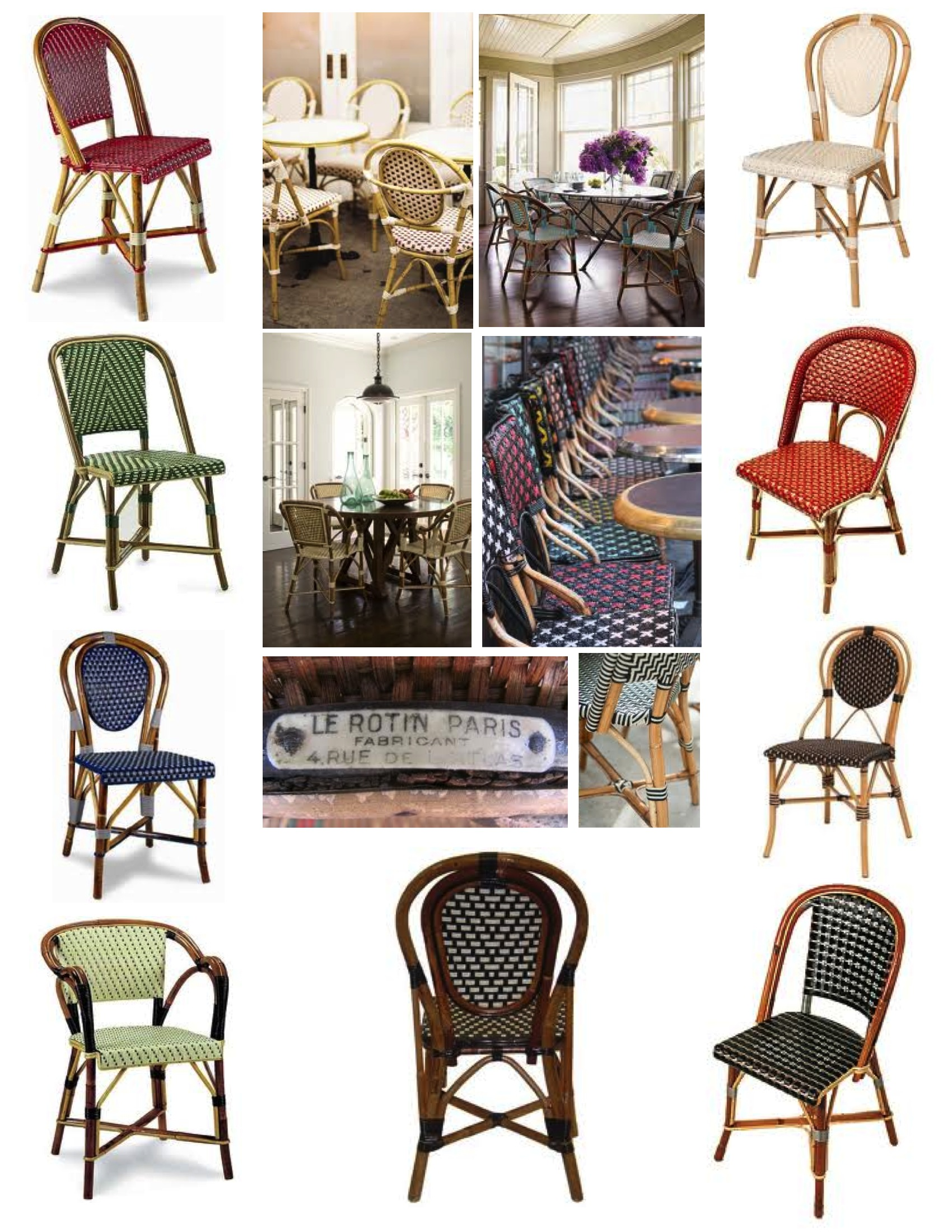 """April In Paris"" The Bistro Chair"