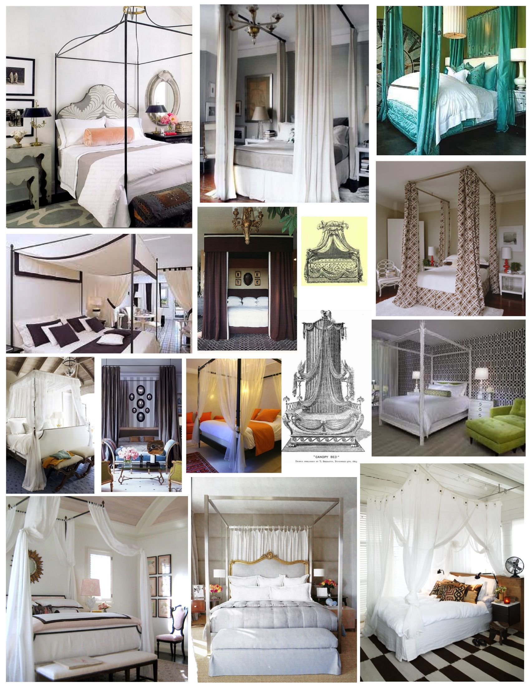 A Canopy Bed a canopy of style: the canopy bed | house appeal