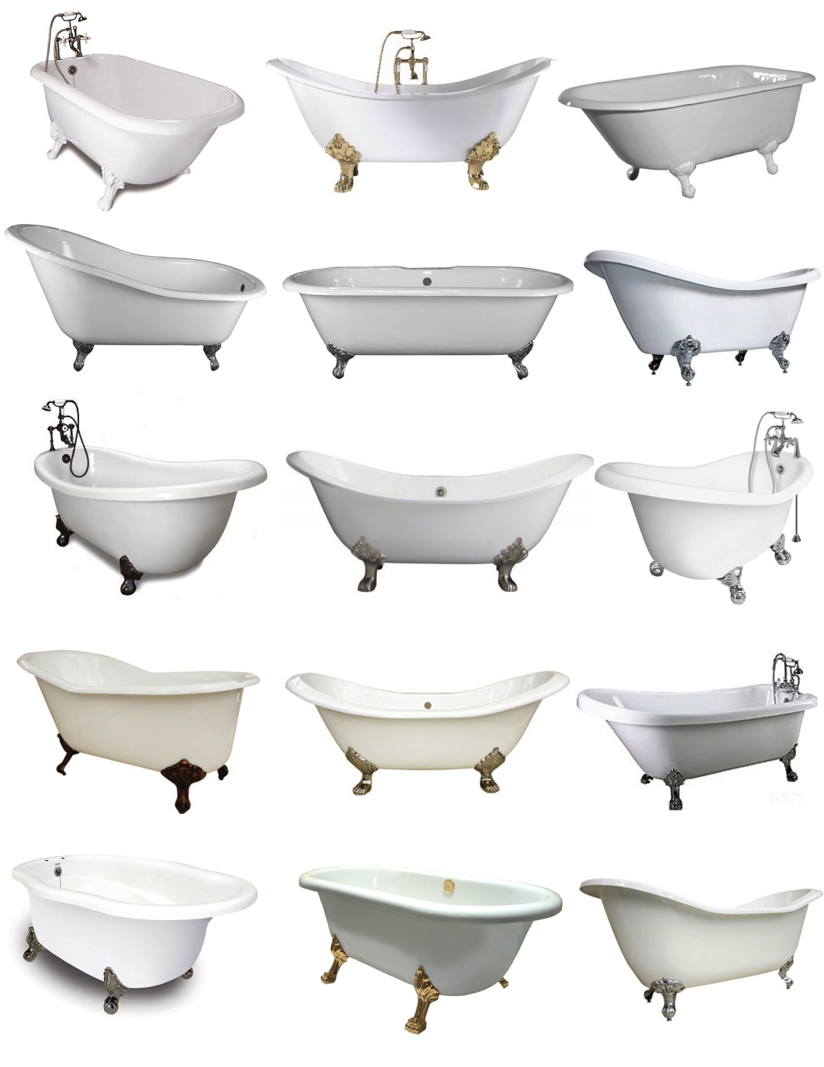 Footed in style the clawfoot tub house appeal for Claw foot soaker tub