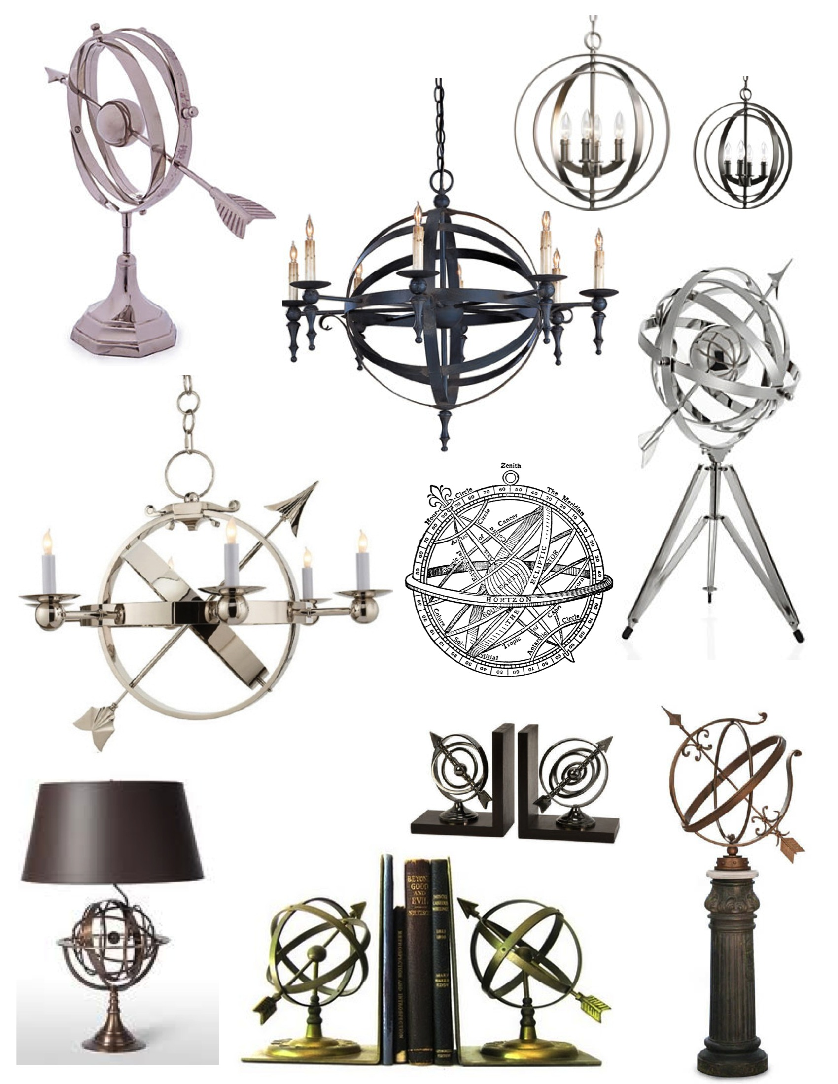 Interlocking rings of timeless design the armillary sphere house interior embellishments of the armillary sphere aloadofball Image collections