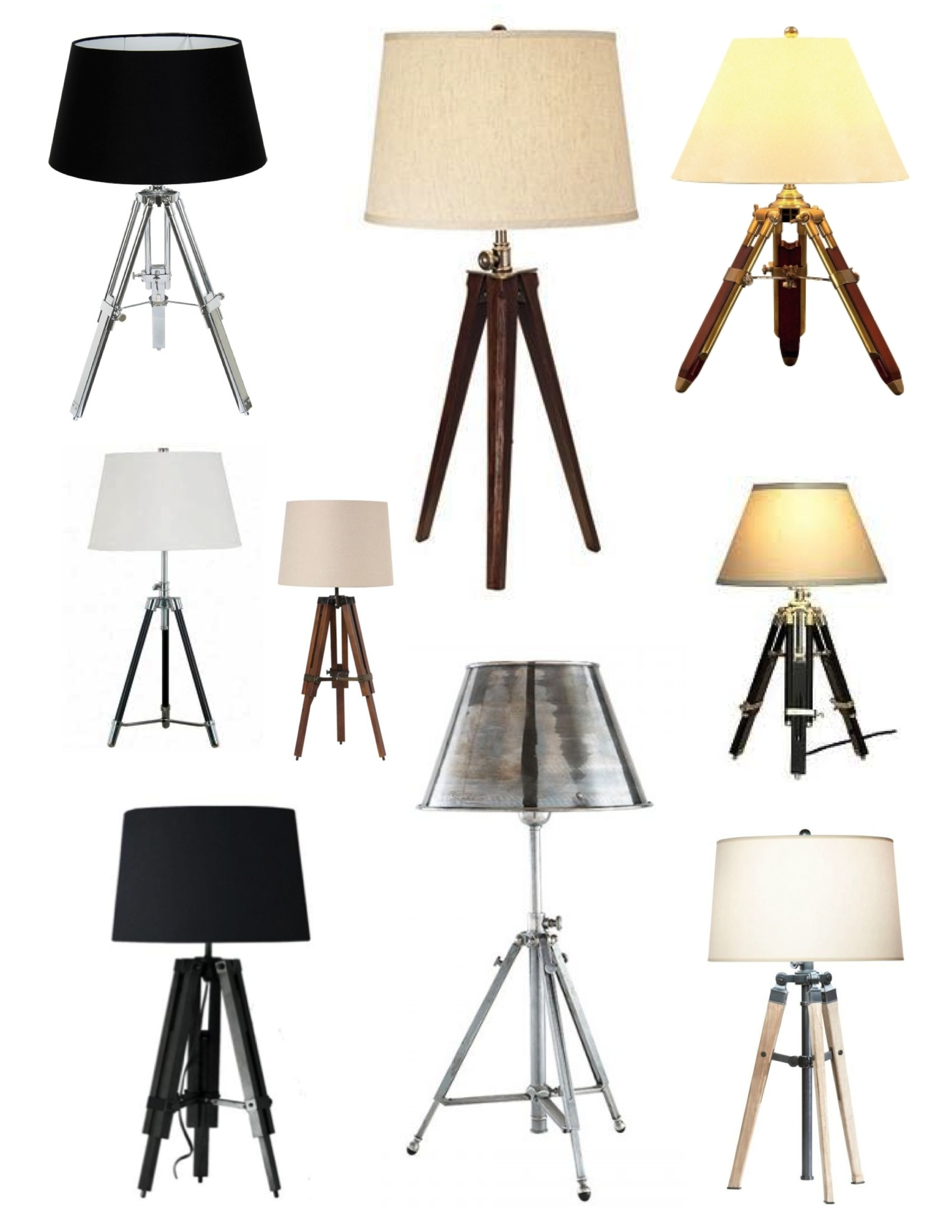 nickel lamp tripod white p brushed floor lamps shade with finish fabric in steel