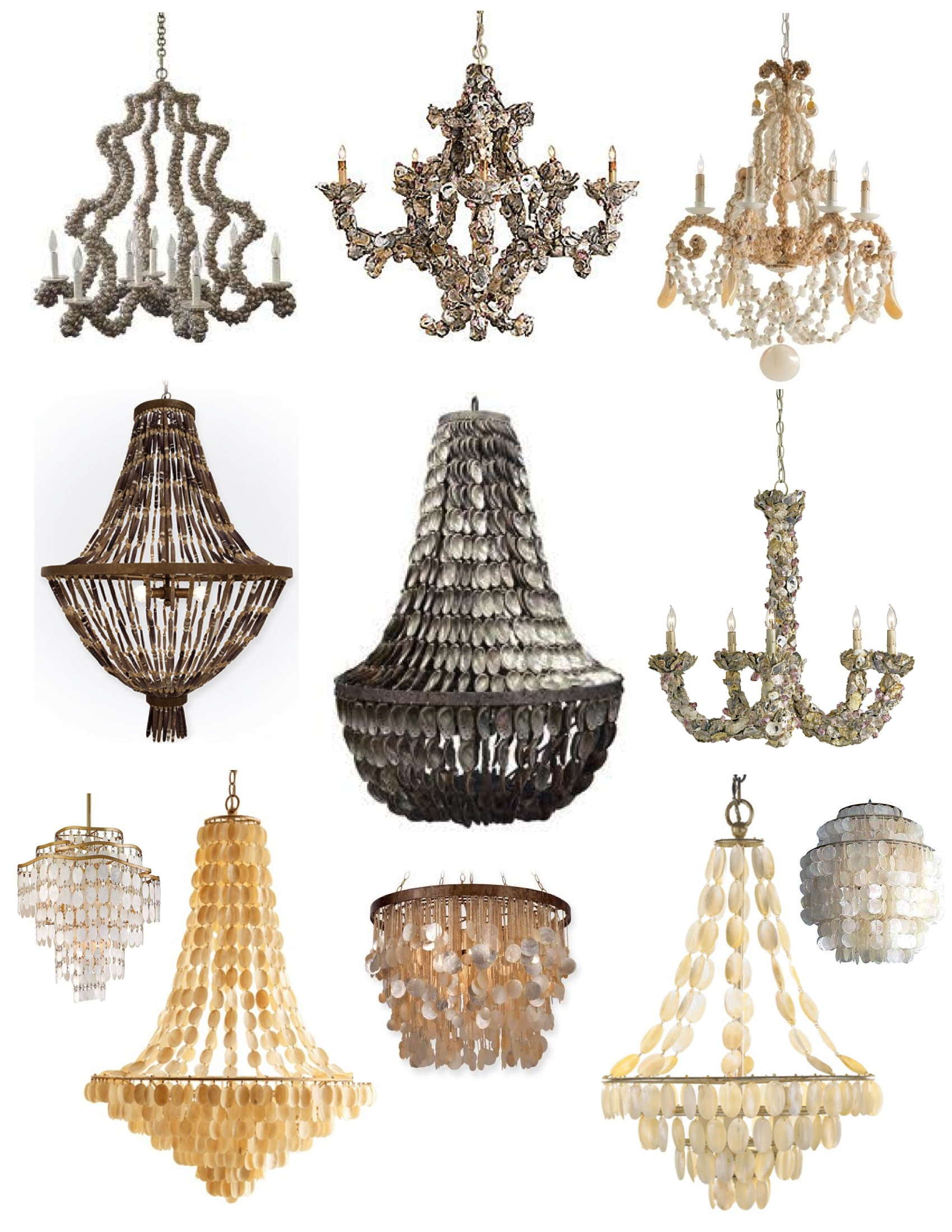 made gp chandelier shell cottage light amazon fixture product beach oyster hand vintage iron com