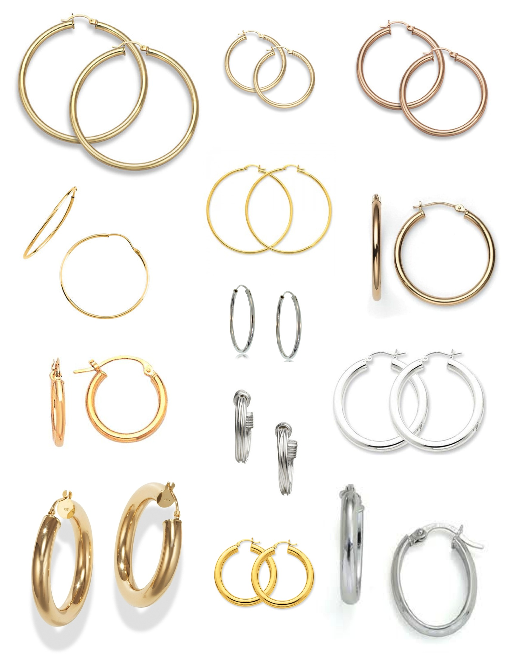 "Iconic Style: ""Hoop"" Earrings Of Gold And Silver 