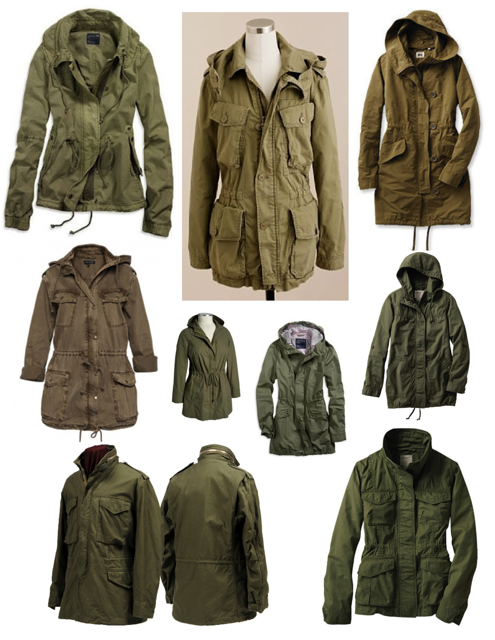 "The Versatile & Stylish Olive Green ""Anorak"" 