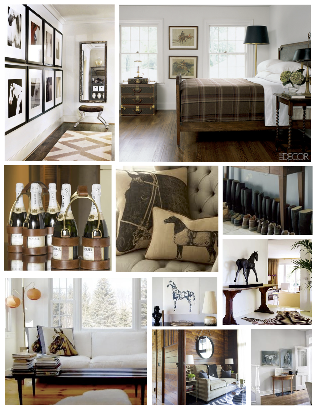 In esteem of the elegant horse equestrian inspired for Interior styles