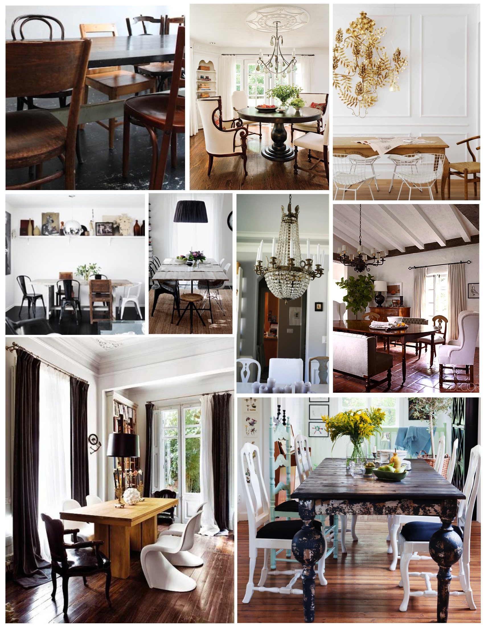 Mismatched Dining Chairs mismatched chairs: a dining arrangement of personal style | house