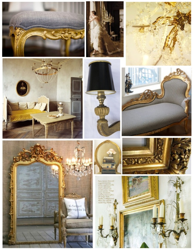 "Interior Elements Of ""Gilded"" Style"