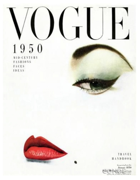 """Vouge's Iconic Cover:  Bold Drama With """"Winged"""" Liner"""