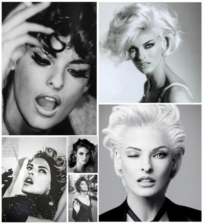 """Iconic """"Winged Eyeliner"""" Style:  Linda Evangelista"""