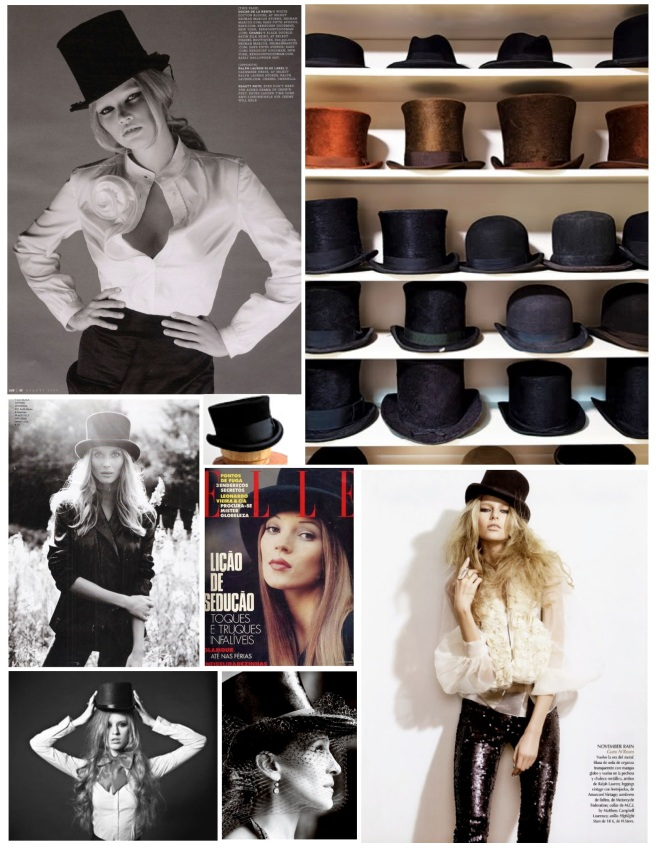 Elegant Style Of A Flat Crowned Hat:  Top Hat Style
