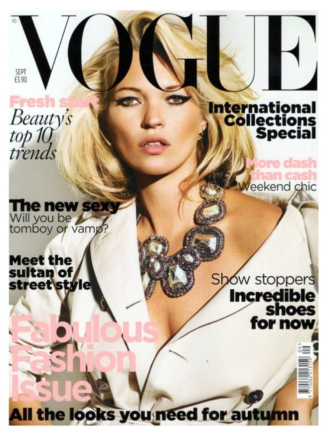 "Iconic Style:  A ""Winged"" Kate Moss"