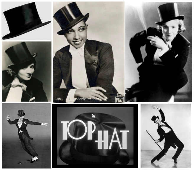 The Iconic Adornment Of The Top Hat:  Marlene Dietrich, Josephine Baker & Fred Astaire