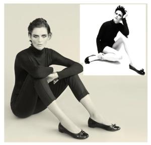 The Classic Black Turtleneck. (Model,Stella Tennant)