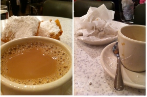 This Morning, With Love From Cafe Du Monde, New Orleans/Morning Coffee During Travels To The French Quarter.  Captured Delight.