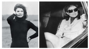 Style Icon:  Jacqueline Kennedy Onassis, Adorned In A Turtleneck Of Black