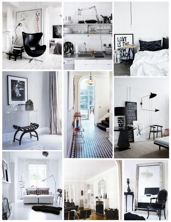 Bold Simplicity:  Black & White Interiors
