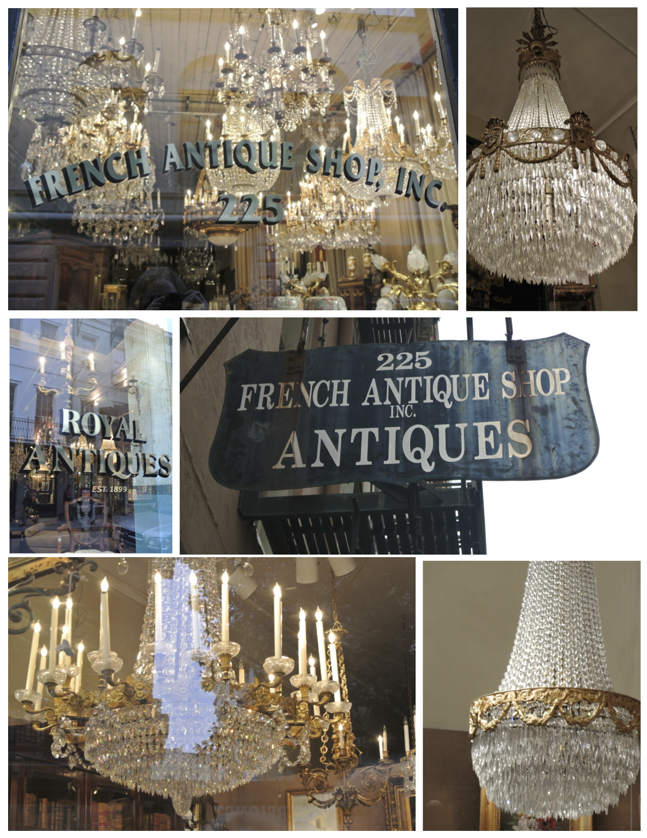 "New Orleans/French Quarter: Drenched With Empire Chandeliers - Crowned"" Magnificence: The French Empire Crystal Chandelier House"