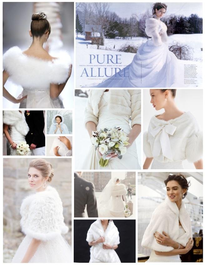 Winter White Bridal Elegance: The Addition Of Fur