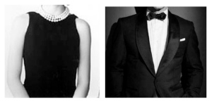 "Color Combination Perfection:  The ""Little Black Dress"" Paired With Pearls & The Iconic Black & White Tuxedo"