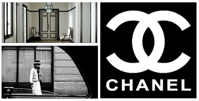 Coco Chanel:  The Iconic Logo &  Her  Country Home's Entry In Garache, France