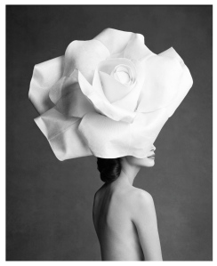 Black & White Delight:  Floral Fantasy (Model, Christy Turlington)