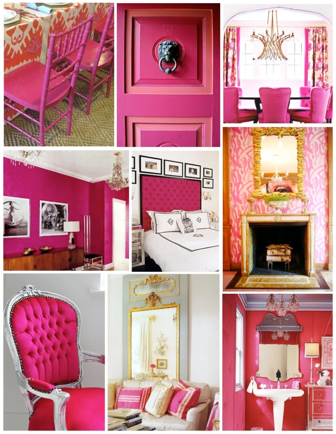 """Indulgence In Vibrant Hue:  The Bold Addition Of Fuschia """"Pink"""""""