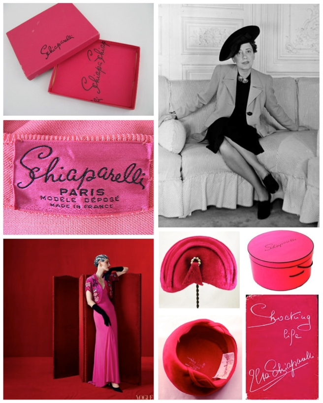 "Italian Fashion Designer, Elsa Schiaparelli (1890-1973)  & Her Signature Color: ""Shocking Pink"""