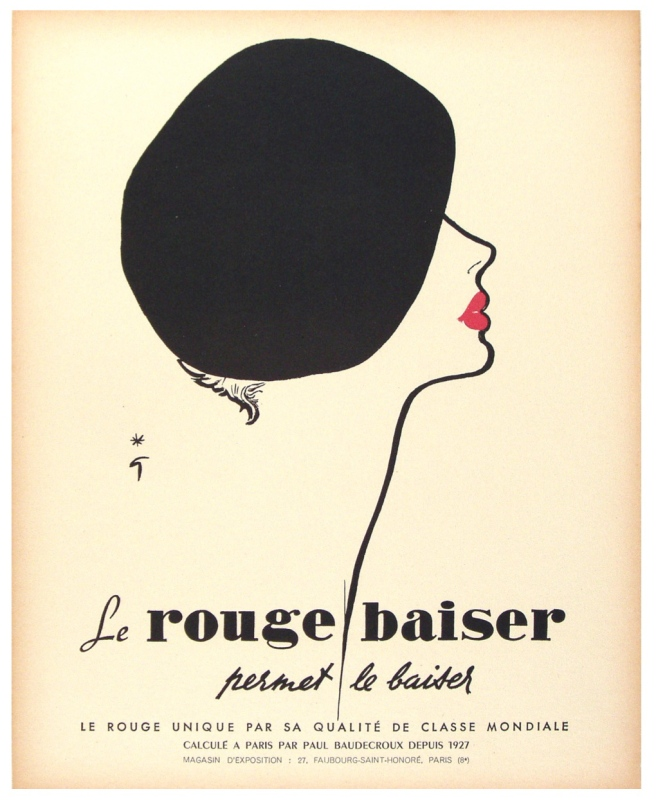 Vintage Advertisement Of Classic French Style:  The Beret