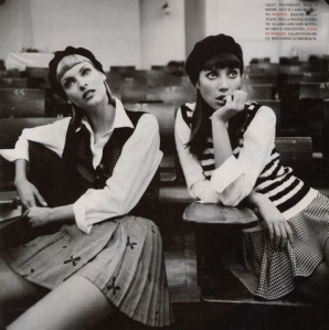 "Stylized Supermodels: Linda Evangelista & Christy Turlington:  The ""Beret"""
