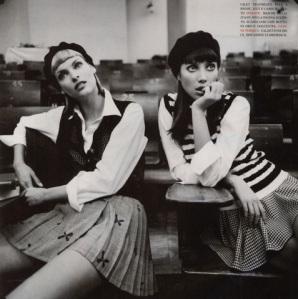 "Stylized Supermodels: Linda Evangelista & Christy Turlington:  The ""Beret"""