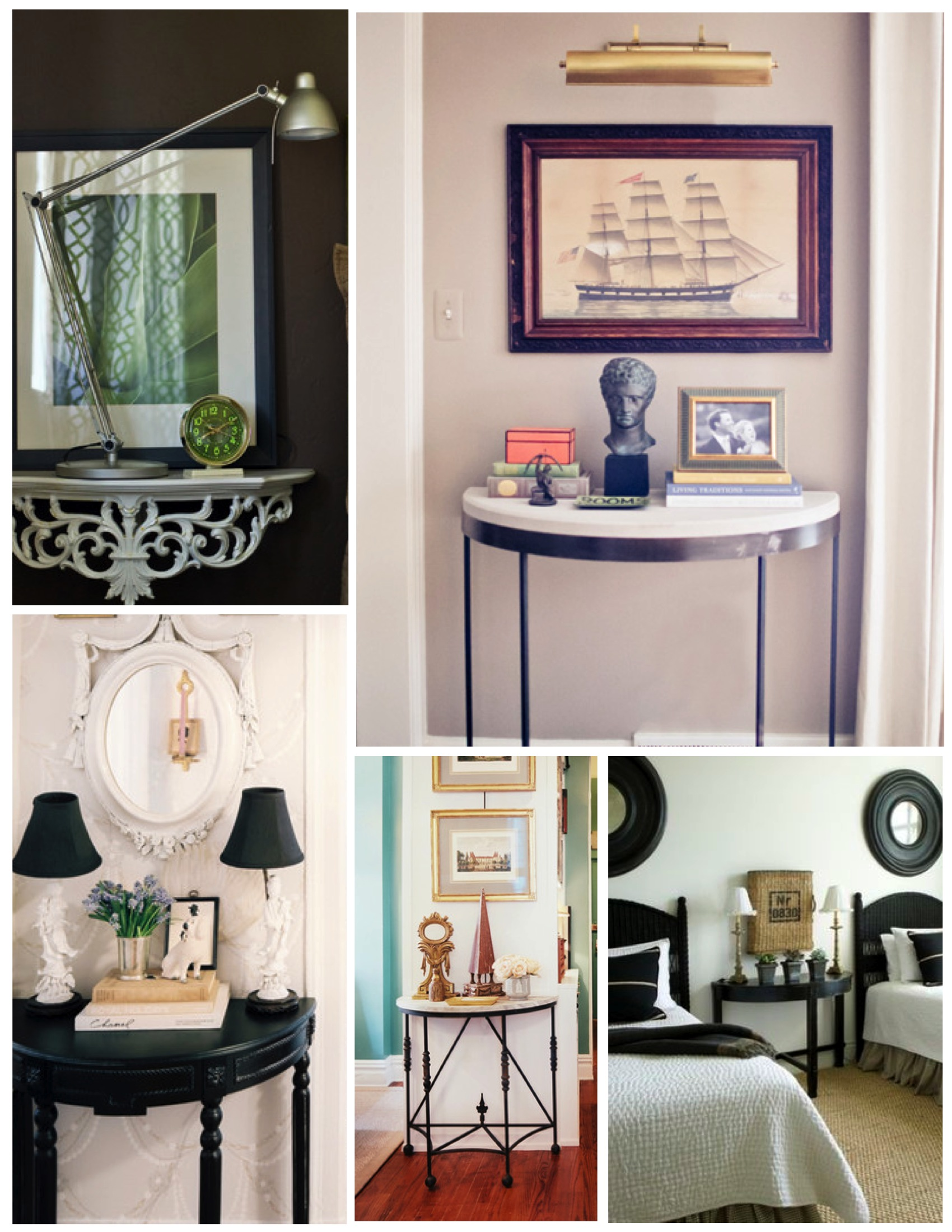 ... Styled Flair: The Demilune Table