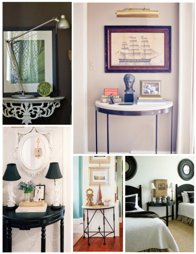 Styled Flair:  The Demilune Table