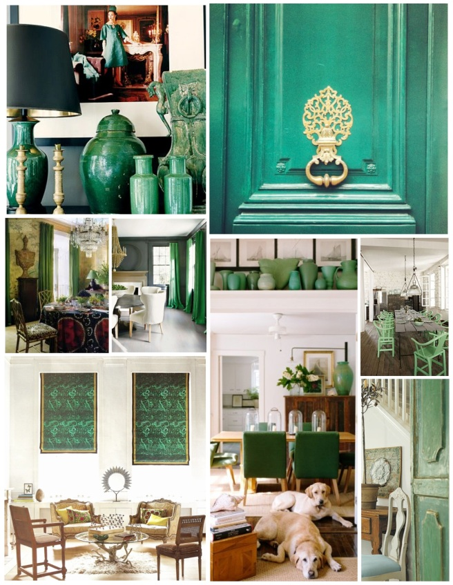 The Color Green Within The Interior: Jade Green Style