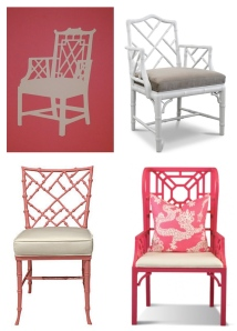 """Chinoiserie""  Styled Chairs"