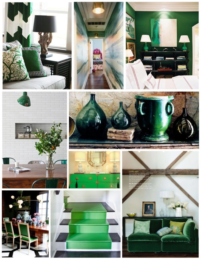Deep Green Style:  The Brilliance Of Green Interiors