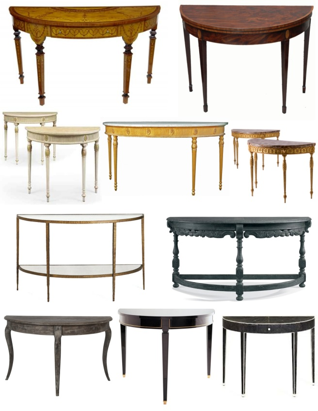 The Demilune Table:  Distinctive Style