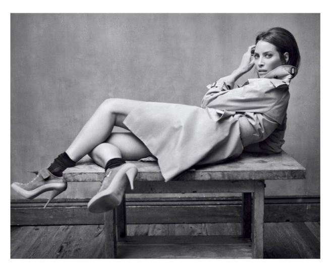 "Supermodel, Christy Turlington In Fashion's Iconic ""Trench Coat"":  A Timeless Combination"