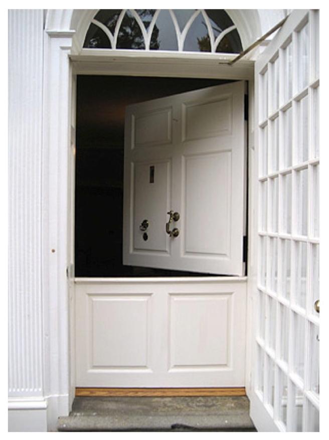"Hinges & Division Of Versatility:   The ""Dutch Door"""