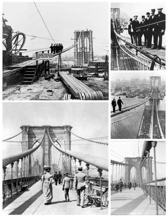 "Historical Architecture:   The ""East River Bridge""  (The ""Brooklyn Bridge"")"