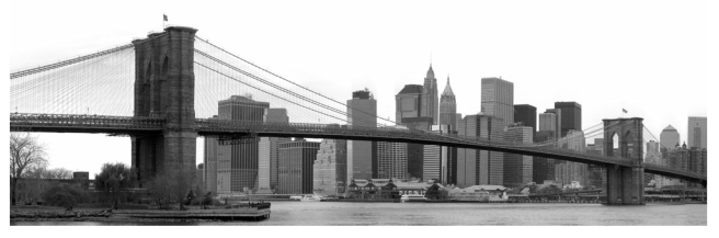 New York's Skyline:  Graced With The Embellishment Of The Brooklyn Bridge