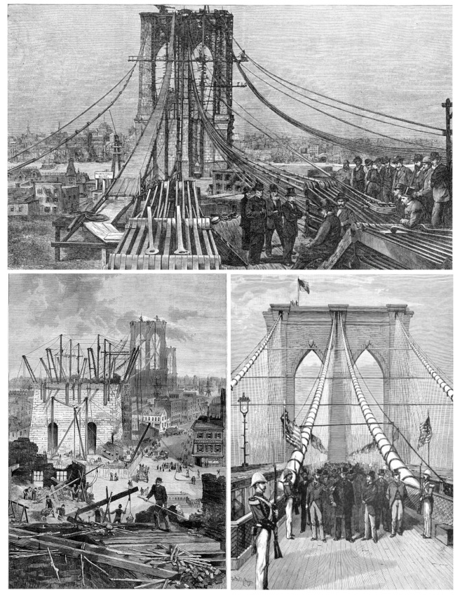 Vintage Renderings:  The Brooklyn Bridge