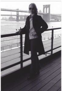 Myself, With The Background Of The Distinctive Brooklyn Bridge.  Circa 2004.