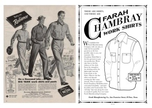 "Vintage Archives Of The ""Working Shirt"":  Chambray"