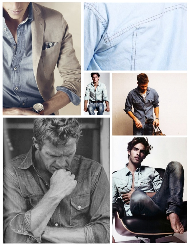 "Masculine Appeal Of Iconic Nature:  Masculine Edge In ""Chambray"""