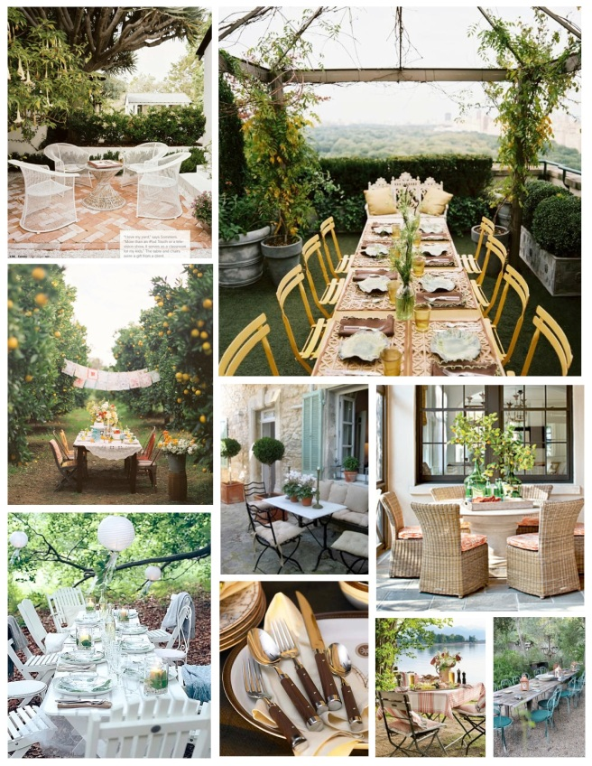 Outside Delight:  Alfresco Dining Pleasures