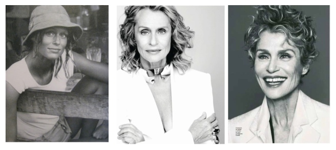 Lauren Hutton:  Enduring In Classic White
