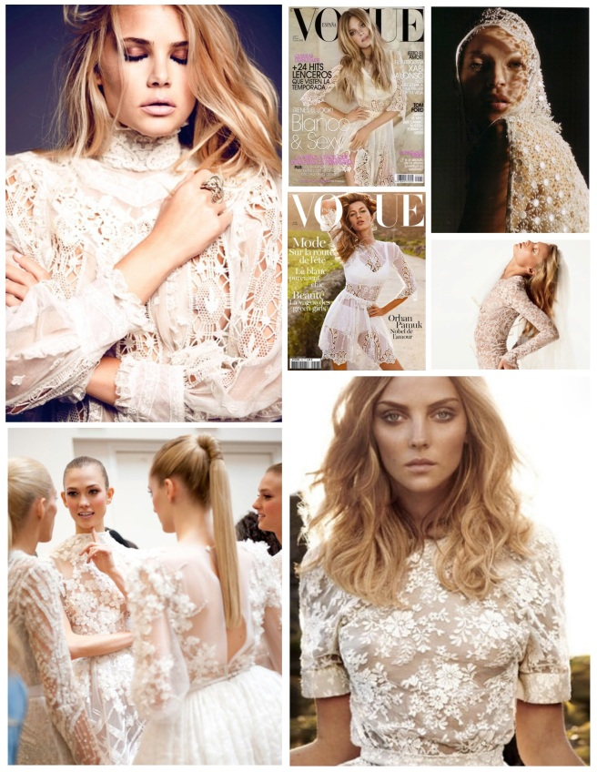 """Delicate Stitching:  The Allure Of  White """"Lace"""""""