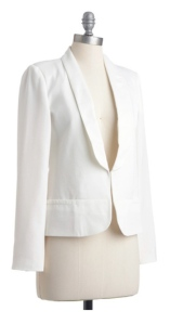 "Crisp Elegance:  The ""White"" Jacket"