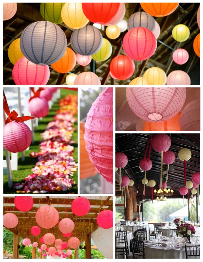 Distinctive & Bright Embellishment:  Paper Lanterns