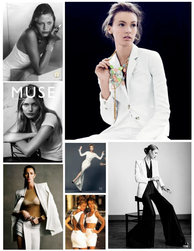 Fashion's Sharp White Style